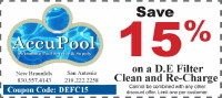 DE Filter Clean Coupon