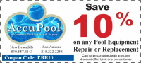 Pool Equipment Repair Coupon